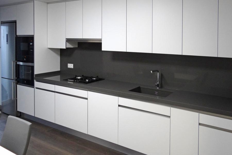 Muebles blanco mate 20170907082044 - Cocinas blancas y gris ...