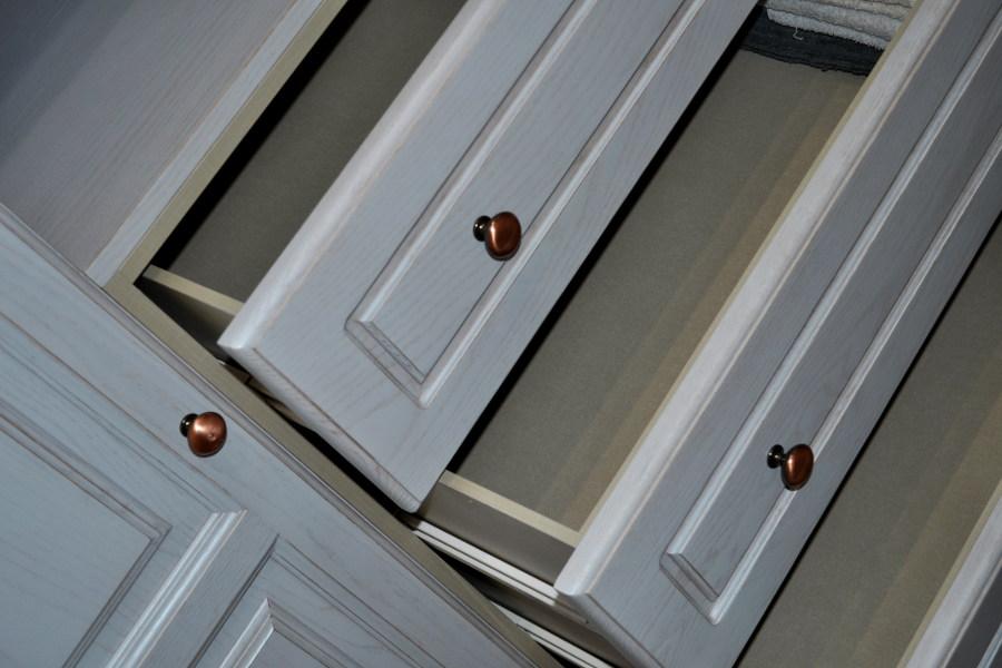 Interiores de cajon de madera laminada efecto textil