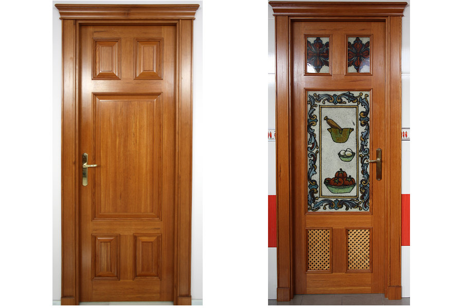 Puertas de interior ciega y puerta acristalada