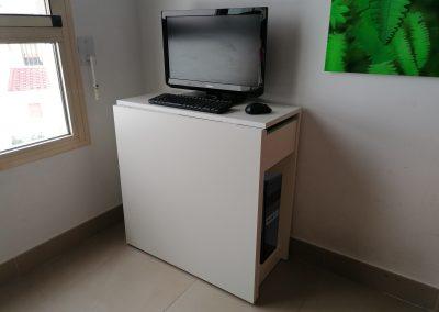 Mesa multiusos con tapa elevable y 1 cajón